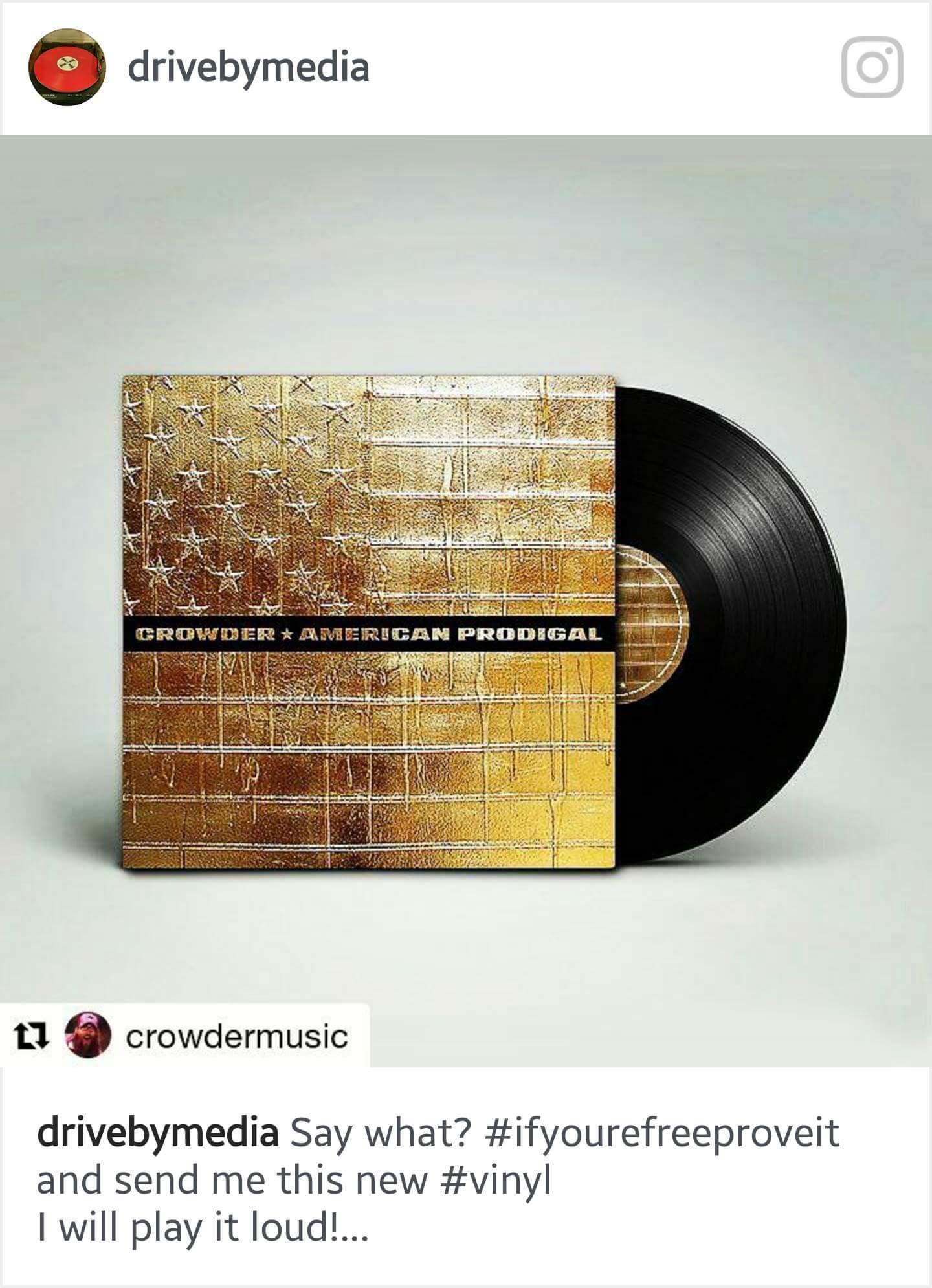 Crowder American Prodigal Vinyl Drivebymedia