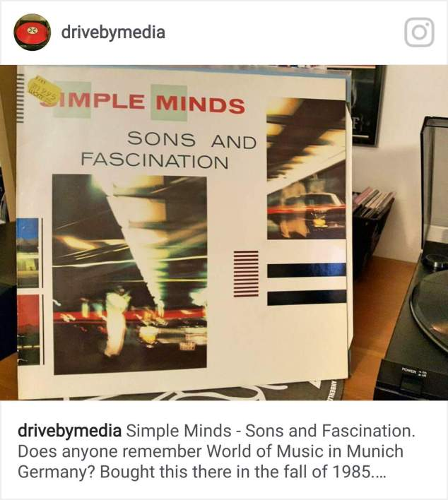 Simple Minds Sons And Fascination Vinyl Drivebymedia